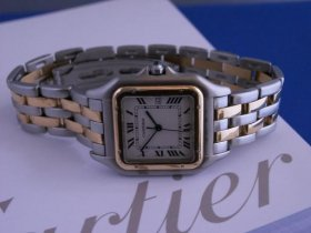 Cartier Panthere SS/18K 2 row Bracelet**SOLD**
