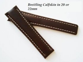 Breitling Calfskin strap in Chocolate, buckle