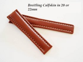 Breitling Calfskin strap in Tan, buckle