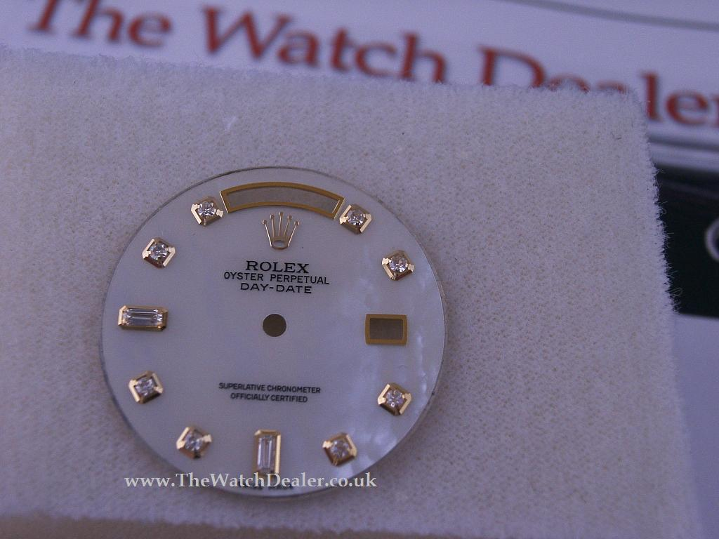 Rolex Day-Date dial in MOP+ Dia makers!