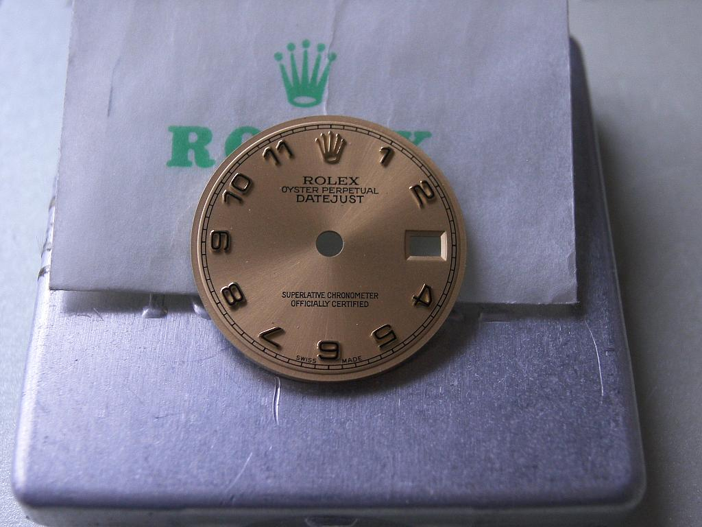 Rolex Ladies Datejust dial, Arabic .